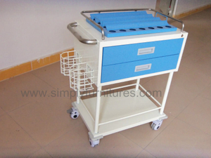 guard rail 2 drawers crash cart