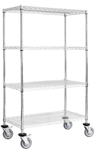 4 layers mobile wire shelving