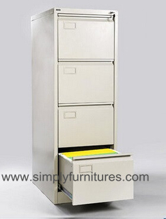anti tilt vertical office file cabinet light grey 4 drawers
