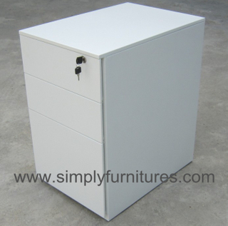 3 drawers movable cabinet