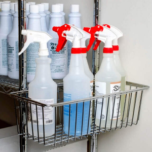 Chrome utility Storage Basket for Wire Shelving