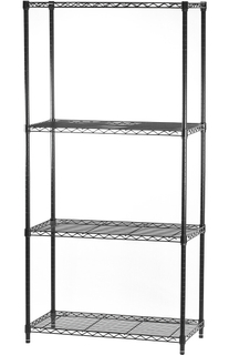 4 layers metal wire shelving