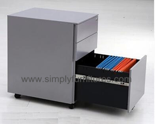 25 inch 3 drawers mobile pedestal file cabinet