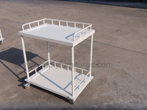 guard rail 2 layers metal medical cart