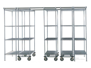 high density mobile wire shelving system