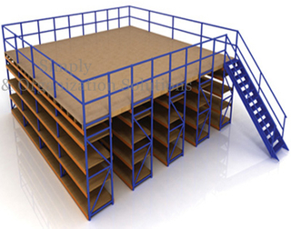 Industrial Warehouse Mezzanine Floor Platform Powder Coated