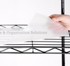 Plastic non slip clear wire shelf liner covers