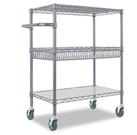 3 layers heavy duty wire racking with handle