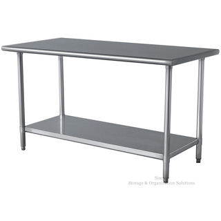 Heavy Gauge Stainless Steel Commercial Work Table with Undershelf