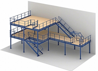 8' x 4' 15mm Plywood Flooring Industrial Mezzanine Platform 500kg Capacity