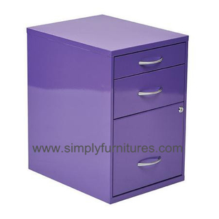 20 inch 3 drawers pedestal movable storage cabinet