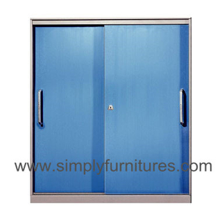 sliding door coloful cabinet