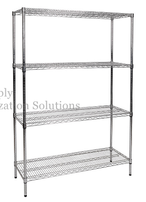 "4 layer Metal wire rack 14''x24""x70"""