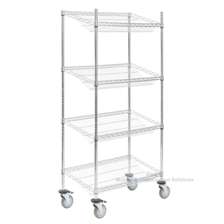 "18"" D X 36"" W X 60"" H Slanted Wire Basket Shelving Racks Fruits Display Storage"