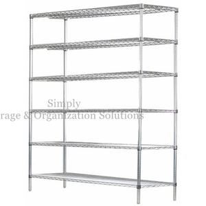 "Restaurant Storage Shelving Wire Rack Hygienic Unit (18"" X 48"" X 72"")"