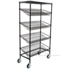 "5 Tier Slanted Wire Shelf Black Rack Unit Supermarket Sales 18"" D X 36"" W"