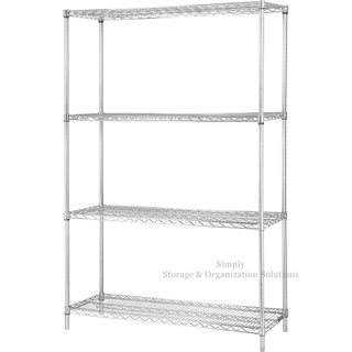 4 Layers Chrome Finish Steel Rack Shelves Beverage Storage Wire Shelving