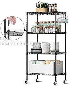 Durable Restaurant Organizers 5 Tier Metal Storage Rack Wire Shelving Unit